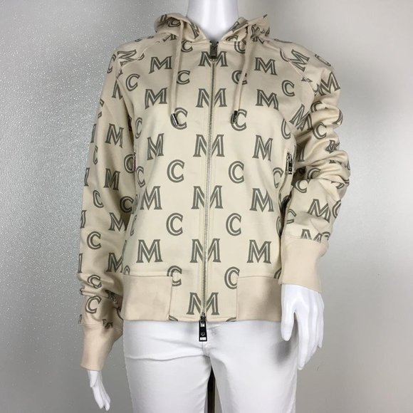 Mcm Sweaters Woman Sweatshirts Monogram Zip Up Hoodie Dm19 Poshmark